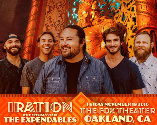 Iration & The Expendables at Fox Theater Oakland