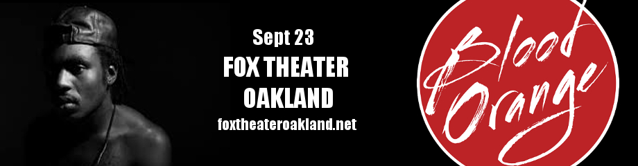 Blood Orange at Fox Theater Oakland