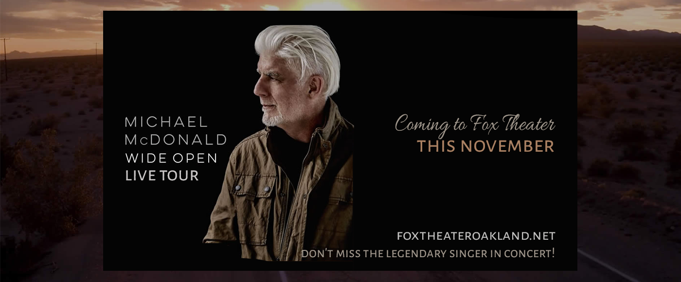 Michael McDonald - Musician & Marc Cohn at Fox Theater Oakland