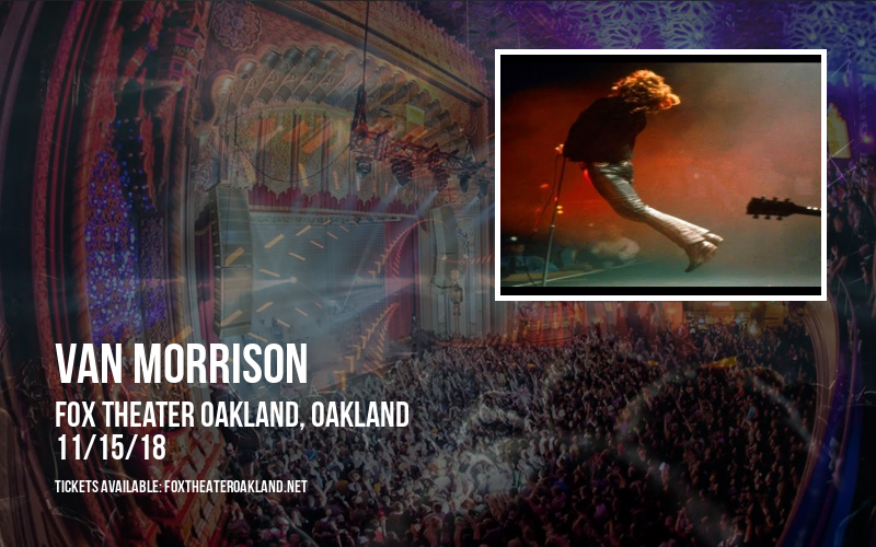 Van Morrison at Fox Theater Oakland