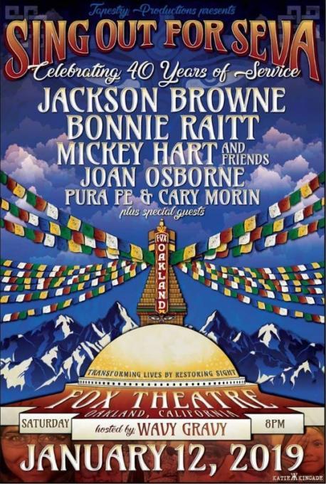 Sing Out For Seva: Jackson Browne, Bonnie Raitt, Joan Osborne, Mickey Hart & Pura Fe at Fox Theater Oakland