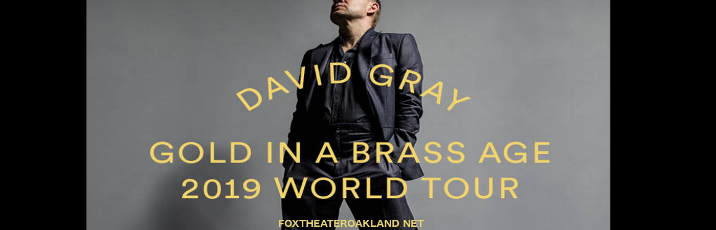 David Gray at Fox Theater Oakland