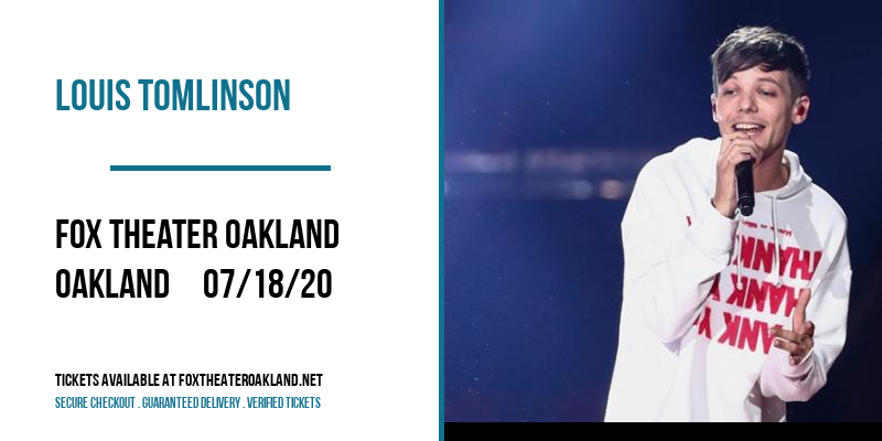 Louis Tomlinson [POSTPONED] at Fox Theater Oakland