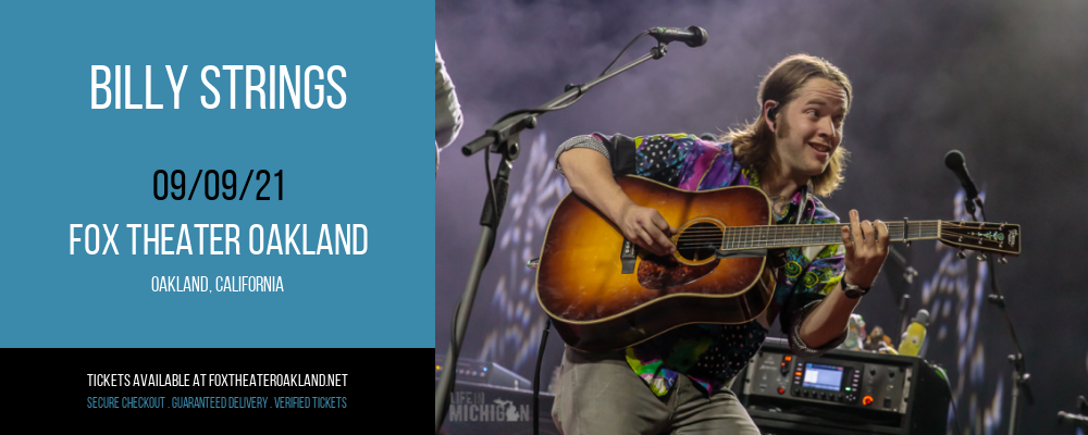 Billy Strings at Fox Theater Oakland