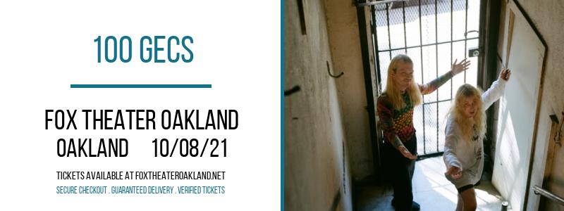 100 Gecs at Fox Theater Oakland