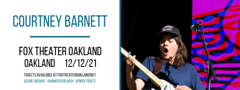 Courtney Barnett at Fox Theater Oakland