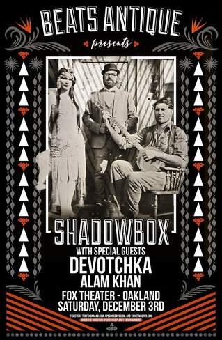 Beats Antique, Devotchka & Alam Khan at Fox Theater Oakland