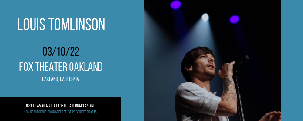 Louis Tomlinson at Fox Theater Oakland